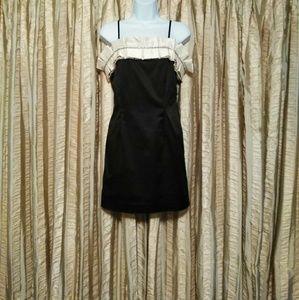Forever XXI Black /Ivory Formal Dress - Size M